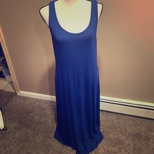 Old Navy blue maxi dress size L